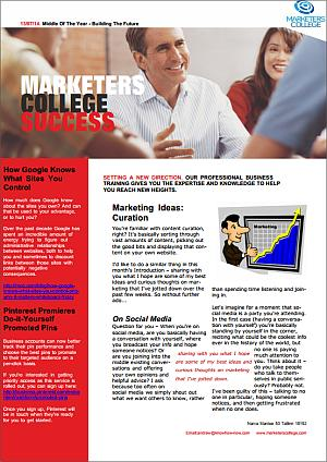 cover of marketers college success magazine